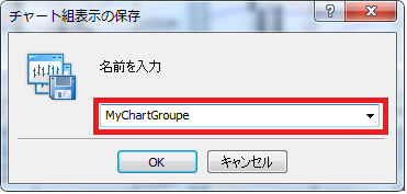 MT4組表示(チャートグル―プ)名前を付けて保存する名前を入力