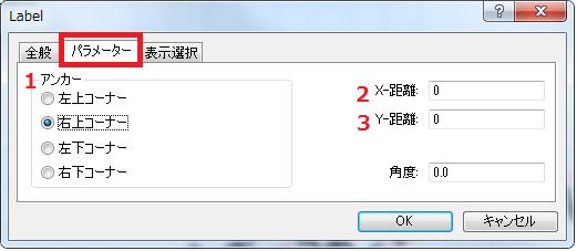 MT4テキストラベルのパラメーターで表示位置を指定します